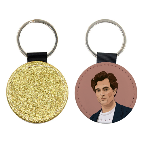 Penn Badgley print - personalised picture keyring by Kimberley Ambrose