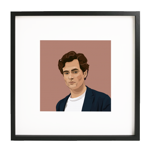 Penn Badgley print - printed framed picture by Kimberley Ambrose