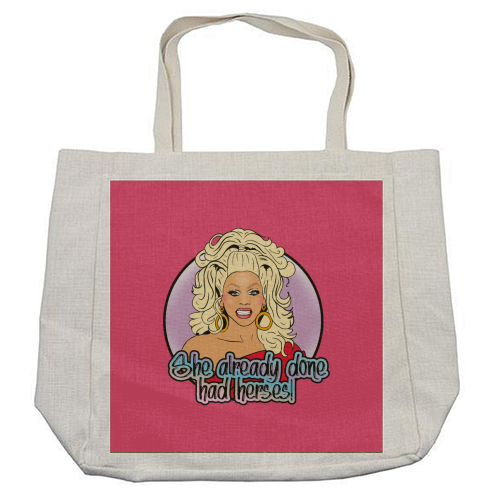 She Already Done Had Herses - cool beach bag by Bite Your Granny