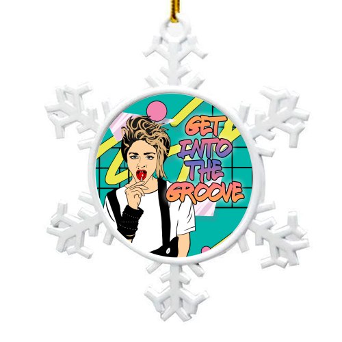 Get into the Groove - snowflake decoration by Bite Your Granny