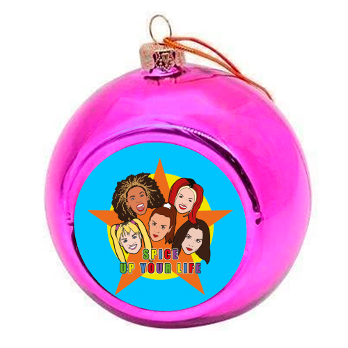 Spice Up Your Life - colourful christmas bauble by Bite Your Granny