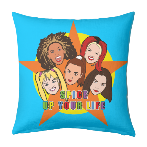 Spice Up Your Life - designed cushion by Bite Your Granny