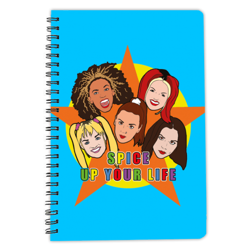 Spice Up Your Life - designed notebook by Bite Your Granny