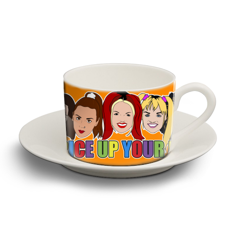 Spice Up Your Life - personalised cup and saucer by Bite Your Granny