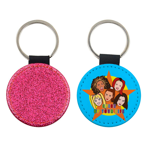 Spice Up Your Life - personalised leather keyring by Bite Your Granny