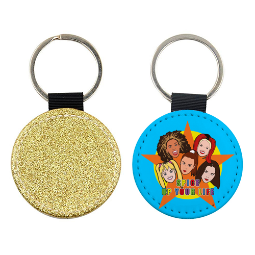 Spice Up Your Life - personalised picture keyring by Bite Your Granny