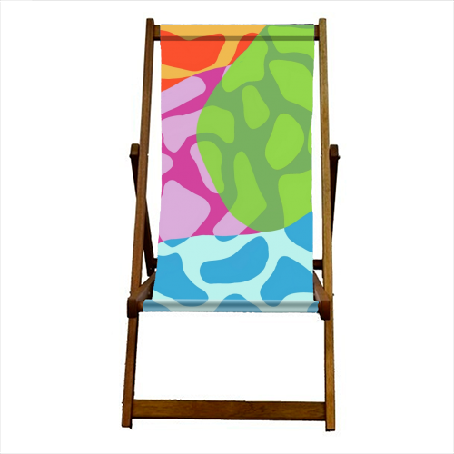 A Leopard's True Spots - canvas deck chair by Squiggle&Splodge