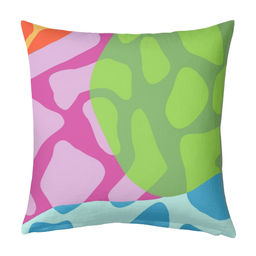 A Leopard's True Spots - designed cushion by Squiggle&Splodge