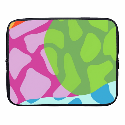 A Leopard's True Spots - designer laptop sleeve by Squiggle&Splodge