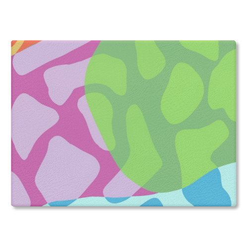 A Leopard's True Spots - glass chopping board by Squiggle&Splodge