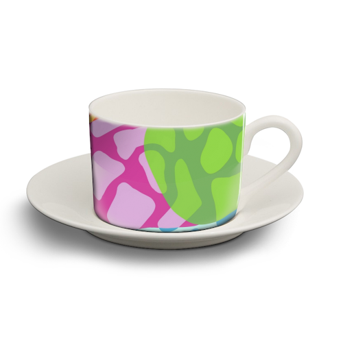 A Leopard's True Spots - personalised cup and saucer by Squiggle&Splodge