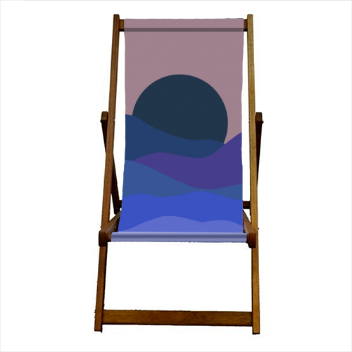 Desert Sunset - canvas deck chair by Squiggle&Splodge