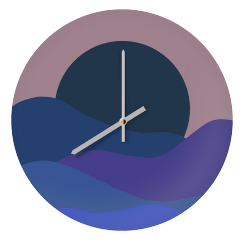 Desert Sunset - creative clock by Squiggle&Splodge