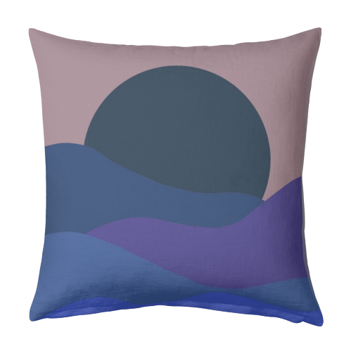 Desert Sunset - designed cushion by Squiggle&Splodge