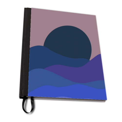 Desert Sunset - designed notebook by Squiggle&Splodge