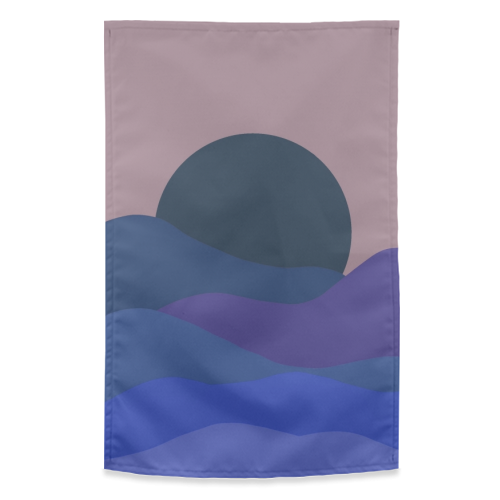 Desert Sunset - funny tea towel by Squiggle&Splodge