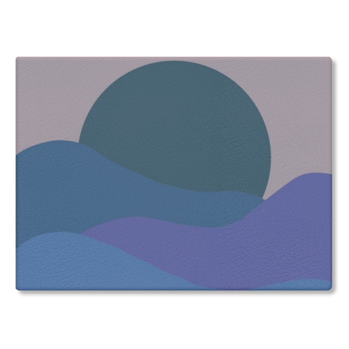 Desert Sunset - glass chopping board by Squiggle&Splodge
