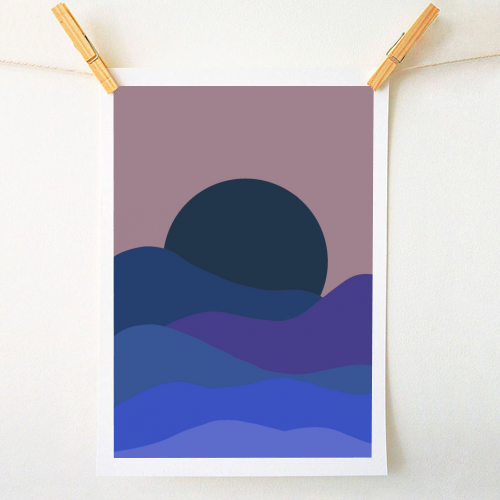 Desert Sunset - original print by Squiggle&Splodge