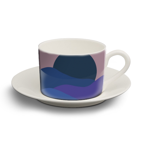 Desert Sunset - personalised cup and saucer by Squiggle&Splodge