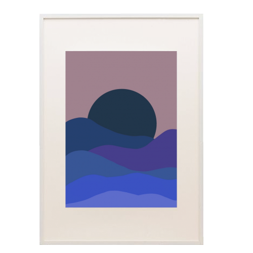 Desert Sunset - printed framed picture by Squiggle&Splodge