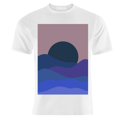Desert Sunset - unique t shirt by Squiggle&Splodge