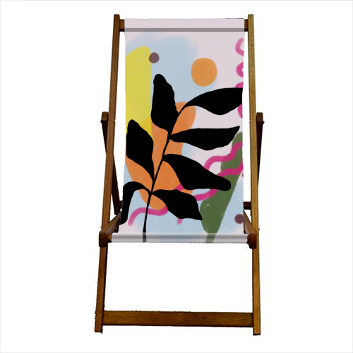 Nature vs Nurture - canvas deck chair by Squiggle&Splodge