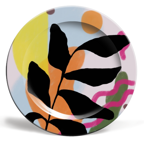 Nature vs Nurture - ceramic dinner plate by Squiggle&Splodge