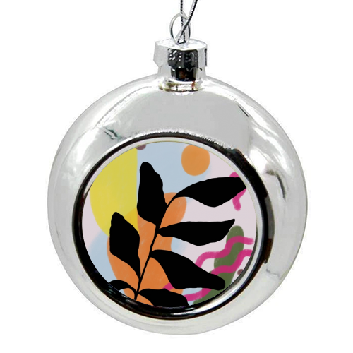 Nature vs Nurture - colourful christmas bauble by Squiggle&Splodge