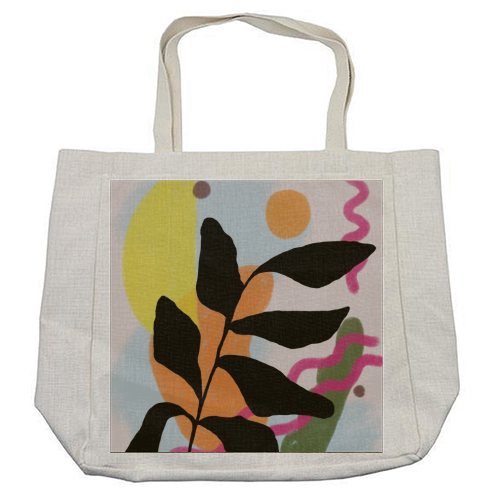 Nature vs Nurture - cool beach bag by Squiggle&Splodge
