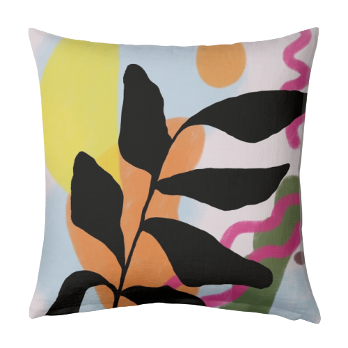 Nature vs Nurture - designed cushion by Squiggle&Splodge