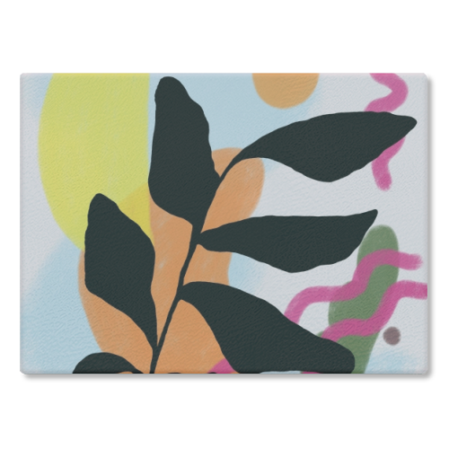 Nature vs Nurture - glass chopping board by Squiggle&Splodge