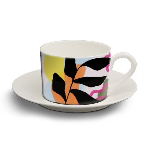 Nature vs Nurture - personalised cup and saucer by Squiggle&Splodge