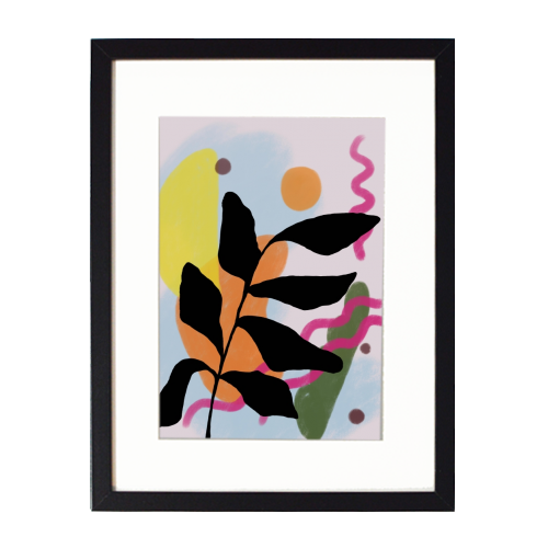Nature vs Nurture - printed framed picture by Squiggle&Splodge