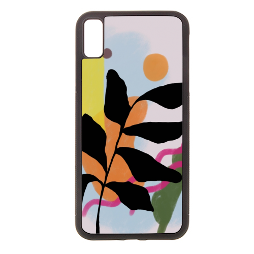 Nature vs Nurture - Rubber phone case by Squiggle&Splodge