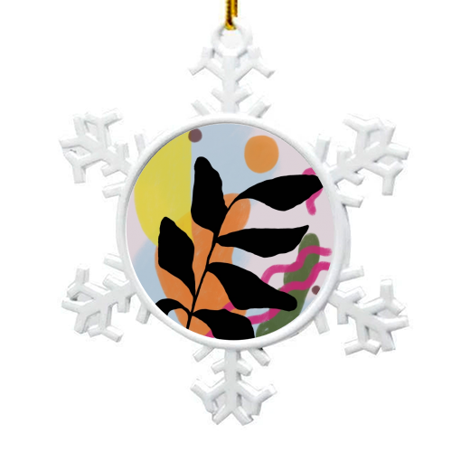 Nature vs Nurture - snowflake decoration by Squiggle&Splodge