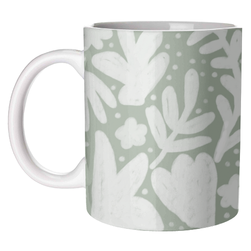 Floral Bloom - unique mug by Squiggle&Splodge