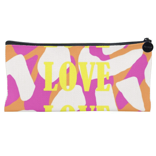 Love love love - unique pencil case by Squiggle&Splodge