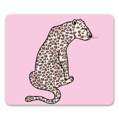 Leopard Illustration - personalised mouse mat by Mols & Mae