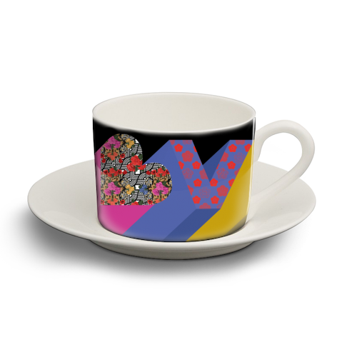 Love - personalised cup and saucer by Luxe and Loco
