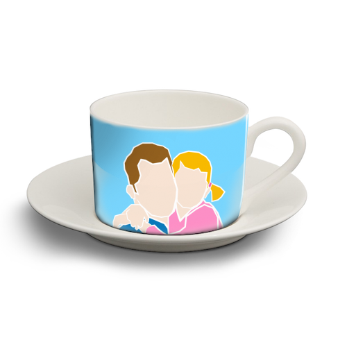 Dad I Love You The Most (girl version) - personalised cup and saucer by Adam Regester