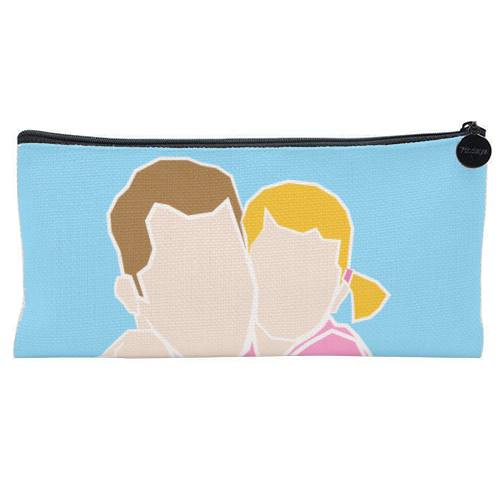 Dad I Love You The Most (girl version) - unique pencil case by Adam Regester