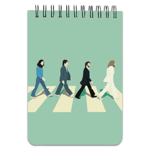 Abbey Road - The Beatles - designed notebook by Cheryl Boland