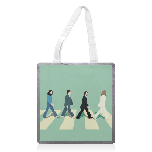 Abbey Road - The Beatles - printed tote bag by Cheryl Boland