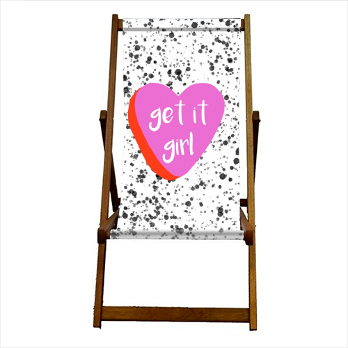 Get It Girl - canvas deck chair by Eloise Davey
