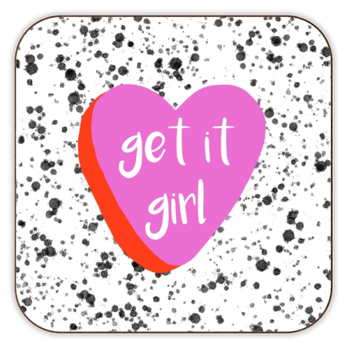 Get It Girl - personalised drink coaster by Eloise Davey