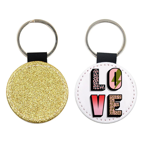 L O V E - personalised leather keyring by Nichola Cowdery
