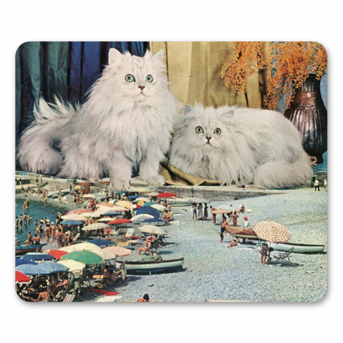 Cats beach - personalised mouse mat by Maya Land