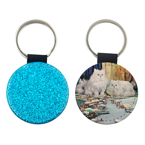 Cats beach - personalised picture keyring by Maya Land