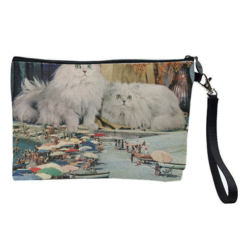 Cats beach - pretty makeup bag by Maya Land