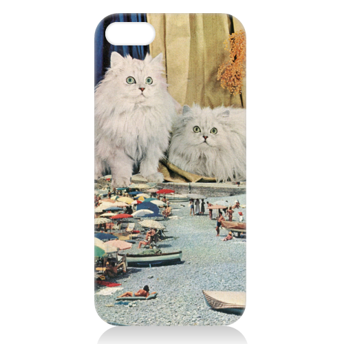 Cats beach - unique phone case by Maya Land